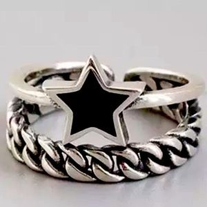 925 star chain ring
